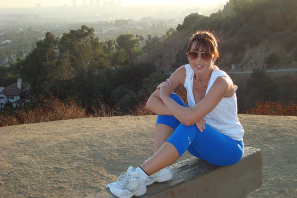 Dannii Minogue in Runyon Canyon