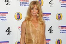 Golden girl: Goldie Hawn at the British Comedy Awards
