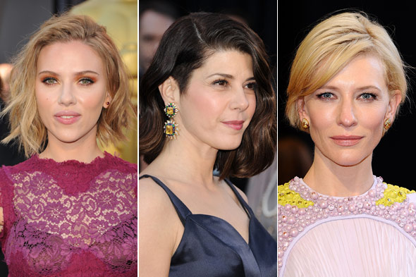 Scarlett Johansson, Marisa Tomei and Cate Blanchett all rocked simple hair styles at the Academy Awards.