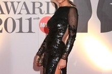 Cheryl Cole's Brit Awards dress: A split too much?