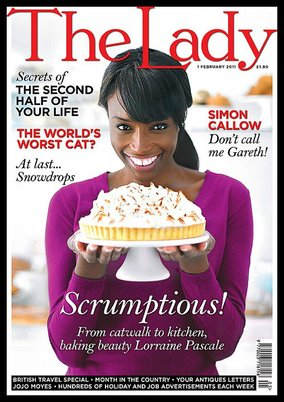 Lorraine Pascale on the cover of The Lady