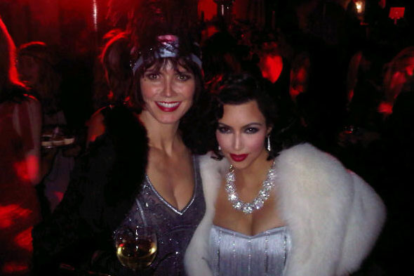 Kim Kardashian and Heidi Klum in fancy dress