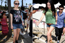 Fashion face-off: Megan Fox & Anna Paquin get leggy in denim shorts