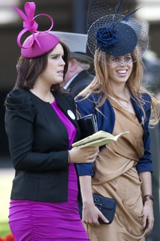 Princess Beatrice and Eugenie at the Royal Wedding