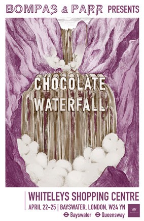 Bompas & Parr chocolate waterfall poster