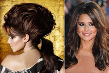 Towering tresses! Cheryl Cole shows off super-high hair in new L'Oreal advert