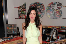 After Eight: Megan Fox stuns in mint green dress