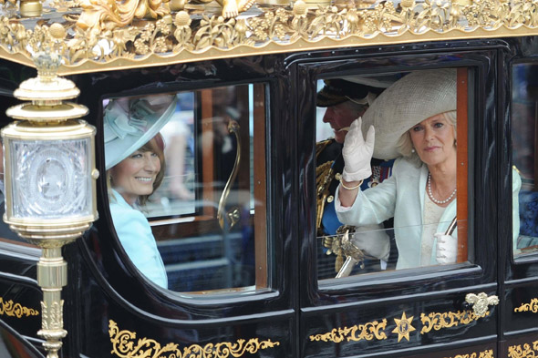 Carole Middleton and Camilla, Duchess of Cornwall