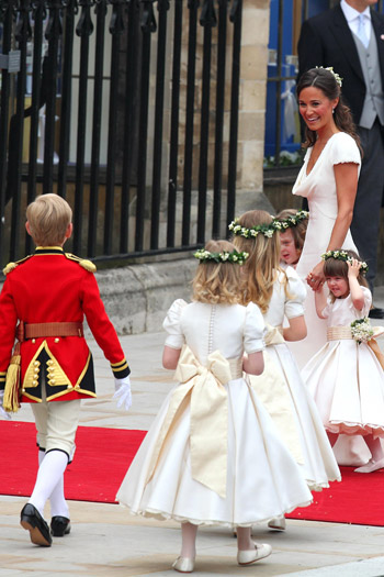Pippa Middleton and the flower girls