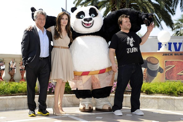 Angelina Jolie, Dustin Hoffman, Jack Black in Cannes