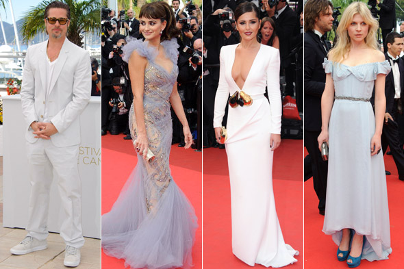 Brad Pitt, Penelope Cruz, Cheryl Cole and Clemence Poesy at the 2011 Cannes Film Festival