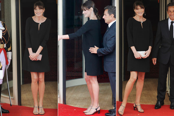 Carla Bruni-Sarkozy in France for the G8 summit