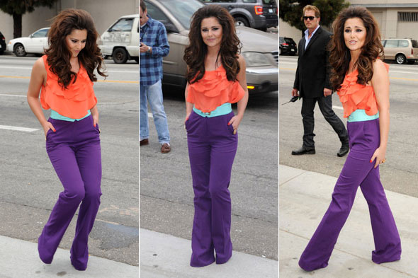 Cheryl Cole at the US X Factor auditions, Los Angeles