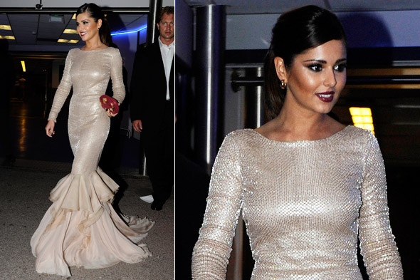 Cheryl Cole in Roberto Cavalli at the L'Oreal party during Cannes Film Festival