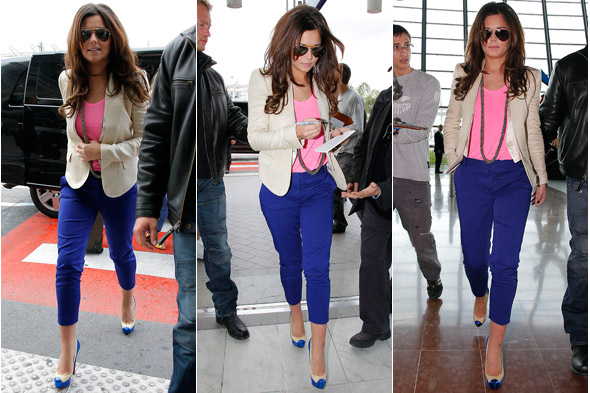 Cheryl Cole leaves Cannes - snapped walking through Nice airport signing autographs