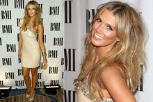In the nude: Delta Goodrem dons flesh-coloured frock at music awards