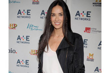Hot or not: Demi Moore's tomato red trousers