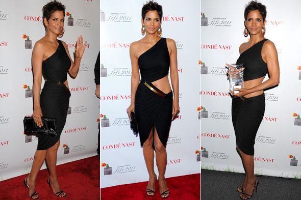 Halle Berry in Halston at the FiFi Fragrance Awards in New York