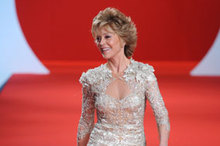 Woah! Jane Fonda wows on the catwalk at Cannes