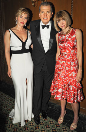 Kate Winslet, Mario Testino and Anna Wintour in New York