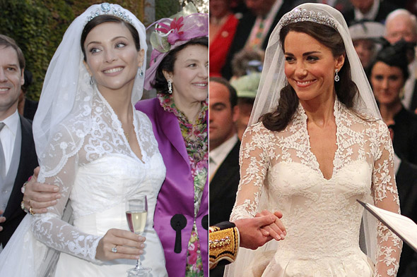 Isabella Orsini and Kate Middleton's wedding dresses strikingly similar