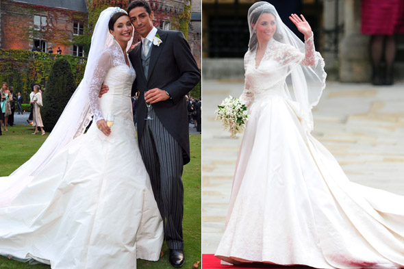 Isabella Orsini and Kate Middleton royal wedding dress copy