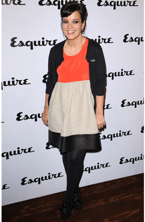 Lily Allen wears block-colour dress to Esquire magazine June issue launch party at Sketch, London