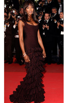 Naomi Campbell in Azzedine Alaia at The Beaver premiere during Cannes Film Festival 2011