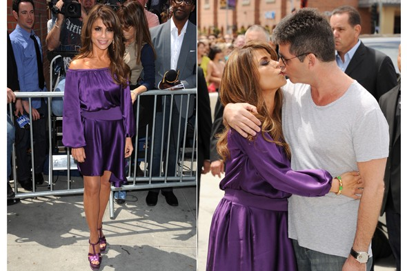 Cheap frills paula abdul spotted cosying up to simon cowell the