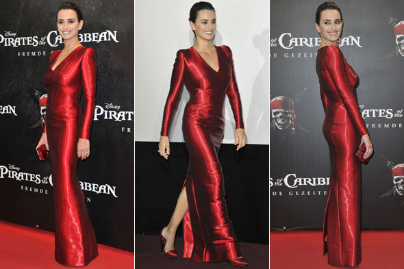 Penelope Cruz wows in red dress at Pirates of the Caribbean premiere in Munich