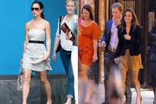 Spot on: Pippa Middleton's dotty holiday style