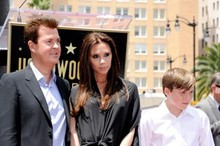 Victoria Beckham and her baby bump hit the Hollywood Walk of Fame