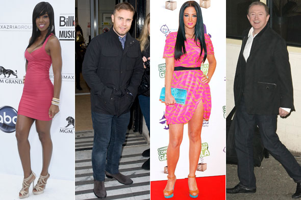 Kelly rowland, gary barlow, tulisa contostavlos and louis walsh will be on the X factor UK panel