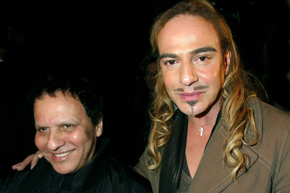 Azzedine Alaia and John Galliano pictured together at the Pirelli Calendar party in Paris, back in 2006. Photo:PA