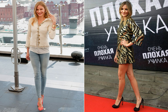 Cameron Diaz at the Bad Teacher press conference and premiere in Moscow, Russia
