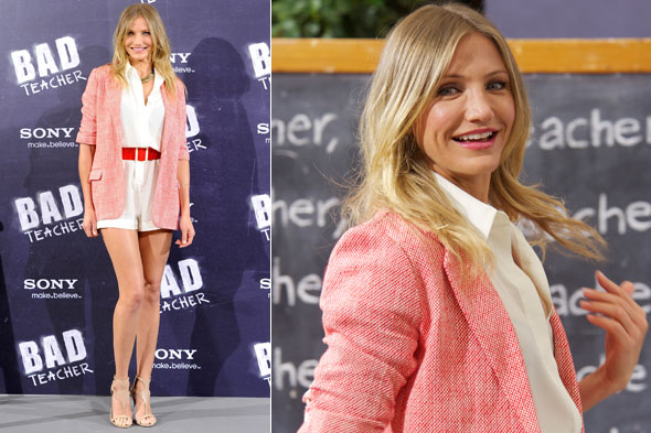 Cameron Diaz at the Bad Teacher Madrid photocall