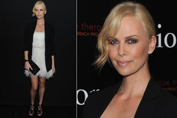 Charlize Theron at the Dior Boutique in New York