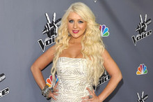 Christina Aguilera is superb in silver at The Voice finale