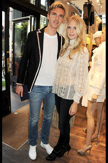 James Cook and Poppy Delevigne
