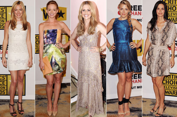 Cat Deeley, Jayma Mays, Sarah Michelle Gellar, Busy Philips and Courteney Cox at the 2011 Critics' Choice Awards