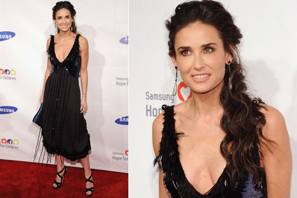 Demi Moore in Louis Vuitton at the Samsung Hope for Children Gala in New York