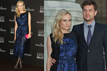 Diane Kruger shines in midnight metallic lace at Jaeger-LeCoultre Paris party
