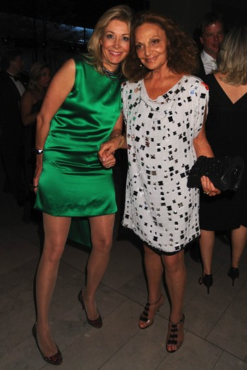Nadja Swarovski and Diane Von Furstenberg