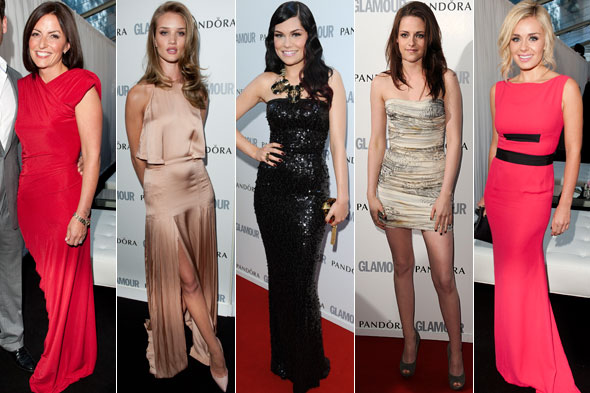 Davina McCall, Rosie Huntington-Whiteley, Jessie J, Kristen Stewart and Katherine Jenkins at the Glamour Women of the Year Awards 2011