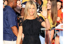 Another day, another LBD for Jennifer Aniston - do you like her lacy look?