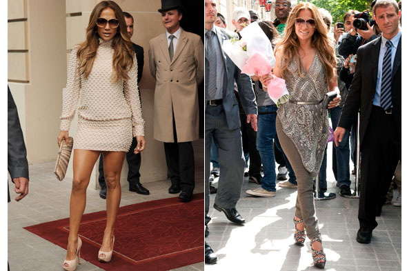 Jennifer Lopez at the Royal Monceau Hotel in Paris