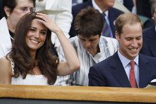 Anyone for tennis? William and Kate take up their centre court seats at Wimbledon