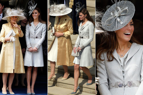 Duchess of Cambridge at the Order of the Garter procession