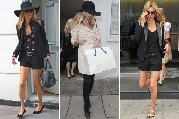 Kate Moss out and about in London getting ready for her wedding