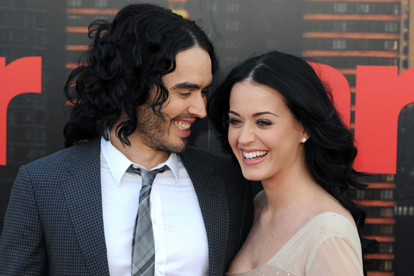Moving on up: Russell Brand and Katy Perry have splashed out on a sprawling Hollywood mansion. Photo:PA
